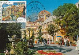 D25099 CARTE MAXIMUM CARD 1986 ITALY - CASINO MERANO CP ORIGINAL - Architecture