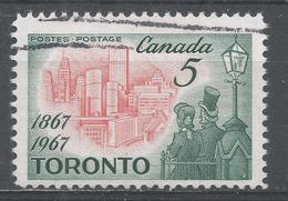 Canada 1967, Scott #475 Toronto In 1967 And Citizens Of 1867 (U) - 1952-.... Règne D'Elizabeth II
