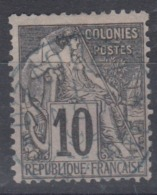 #104# COLONIES GENERALES N° 50 Oblitéré En Bleu Dzaoudzi (Mayotte) - Alphée Dubois