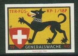 Suisse /Schweiz/Switzerland // Vignette Militaire  // Territorial-Truppen Ter.Füs.Kp. I/187 No. 393 - Soldaten Briefmarken