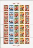 ALAND 1996 Christmas Seals Complete Sheet MNH / ** - Aland