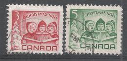 Canada 1967. Scott #476-7 (U) Christmas: Singing Children And Peace Tower, Ottawa - 1952-.... Règne D'Elizabeth II