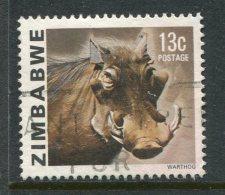 Zimbabwe 1980-83 Definitves - Gemstones, Animals And Waterfalls - 13c Warthog Used - Zimbabwe (1980-...)