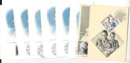 MONACO Carte Maximum Card  11 Cartes Grace Caroline 1957  1958 1966 - Maximumkarten (MC)