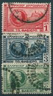 Griechenland 1927: Satz Nr. 318-20° - General Ch. N. Fabviér + Akropolis - Grèce