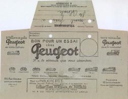 TELEGRAMME PEUGEOT MOD 701 JUILLET 1924 UTILISE  25/8/1926 - TROUS D'ARCHIVES - Telegrafi E Telefoni