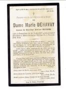 1354 MARIE DEHAVAY - GOSSELIES 1887 + MEIX-DEVANT-VIRTON 1914 - Images Religieuses
