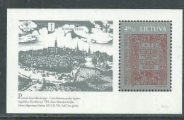 Lituanie BF N° 10 XX  450ème Anniversaire Du 1er Livre Lituanie,  Le Bloc Sans Charnière, TB - Lithuania