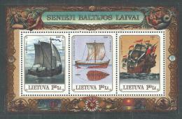 Lituanie BF N° 12 XX Vieux Navires Baltes,  Le Bloc Sans Charnière, TB - Lithuania