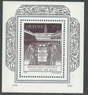 """Lituanie BF N° 16 XX 400ème Anniversaire Du """"Postilé"""" De M. Dauksa,  Le Bloc Sans Charnière, TB - Lithuania"""