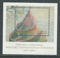 Lituanie BF N° 20 XX 125ème Anniversaire De La  Naissance Du Peintre Ciurlionis ,  Le Bloc Sans Charnière, TB - Lithuania