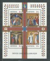 Lituanie BF N° 21 XX  Année Sainte 2000 ,  Le Bloc Sans Charnière, TB - Lithuania