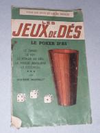Règle De Jeu Jeux De Dés, Des Dé, Pierre Manaut, Bornemann, 421, Zanzi, Poker D´as, Cochon, 1950's - Jeux De Société