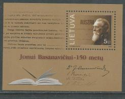 Lituanie BF N° 25 XX 150ème Anniversaire De La Naissance DeJonui Basanavicui,  Le Bloc Sans Charnière, TB - Lithuania