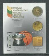 Lituanie BF N° 30 XX Sport : Basket-ball , Le Bloc Sans Charnière, TB - Lithuania