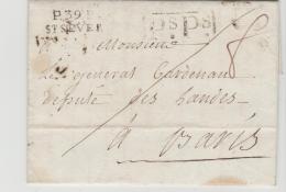 FP163 / FRANKREICH -  St. Sever Ps.Ps. 1821 Nach Paris - Poststempel (Briefe)
