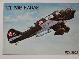 Polish  Bomber Pzl P23  Karas / Polish Postcard - 1939-1945: 2ème Guerre