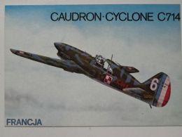 French  Fighter  Caudron Cyclone  / Polish Squadron 1/145 France 1940    / Polish Postcard - 1939-1945: 2ème Guerre