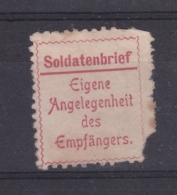 Soldatenbrief Eigene Angelegenheit Des Empfängers - Allemagne
