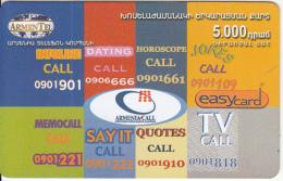 ARMENIA - Armenia Call, ArmenTel Prepaid Card 5000 AMD, Tirage 20100, Exp.date 30/10/06, Used