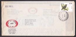 Sri Lanka: Sea Mail Cover To Netherlands, 1999, 1 Stamp, Bird, Animal (minor Damage) - Sri Lanka (Ceylon) (1948-...)