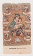 ANTICO SANTINO FUSTELLATO MADONNA DEL CARMINE EDIT. GN 70 HOLYCARD IMAGE PIEUSE ANDACHTSBILD - Imágenes Religiosas
