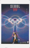 Télécarte Japon Poster JEUX OLYMPIQUES SEOUL 1988 - OLYMPIC GAMES KOREA COREE - Japan Sport Phonecard - 170 - Jeux Olympiques
