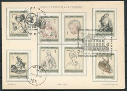 1969 Austria Art Rembrandt Albertina Sonderpostmarkenserie Wien Card - 1945-.... 2nd Republic