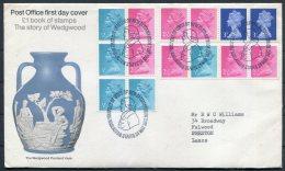 1972 GB Wedgewood Booklet FDC Barlaston - FDC
