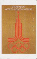 Rare Télécarte Japon Poster JEUX OLYMPIQUES MOSCOU 1980 - OLYMPIC GAMES RUSSIE RUSSIA - Japan Sport Phonecard - 171 - Jeux Olympiques