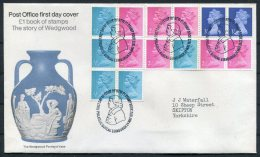 1972 GB Wedgewood Booklet FDC - FDC