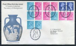 1972 GB Wedgwood Booklet FDC - FDC