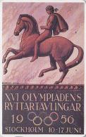 Rare Télécarte Japon Poster JEUX OLYMPIQUES STOCKHOLM 1956 / 2 - OLYMPIC GAMES SWEDEN - Japan Sport Phonecard - 175 - Jeux Olympiques