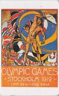 Télécarte Japon Poster JEUX OLYMPIQUES STOCKHOLM 1912 - OLYMPIC GAMES SWEDEN - Japan Phonecard - 176 - Jeux Olympiques