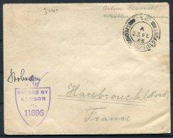 1945 GB Czechoslovak Fieldpost Feldpost C.S.P.P. Censor Cover - 1902-1951 (Kings)