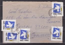 = Enveloppe Pologne Avec Affranchissement 5 Timbres Destination La France - 1944-.... Republik
