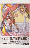 Télécarte Japon Poster JEUX OLYMPIQUES ANVERS 1920 - DISQUE OLYMPIC GAMES BELGIQUE BELGIUM - Japan Sport Phonecard - 177 - Jeux Olympiques