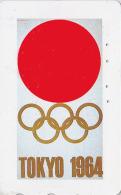 Télécarte Japon Poster JEUX OLYMPIQUES TOKYO 1964 Drapeau Flag - OLYMPIC GAMES Japan Sport Phonecard - 178 - Jeux Olympiques