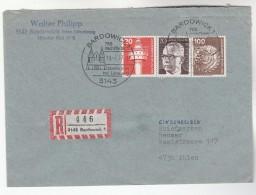 1977 REGISTERED Bardowich GERMANY COVER Illus EVENT Pmk 795 NACH CHRISTI Church Religion Christianity Stamps - Christianity
