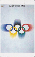 Télécarte Japon Poster JEUX OLYMPIQUES MONTREAL 1976 - OLYMPIC GAMES CANADA - Japan Sport Phonecard - 178 - Jeux Olympiques