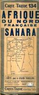 Carte Taride 134   Afrique Du Nord Français Sahara - Géographie