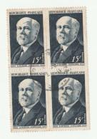 1950 -POINCARE - Serie De 4 Timbres Oblitérés - Yvert & Tellier N° 864 - France