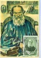 Maximum Card Romania, Famous People, Writer, Journalist - Leon Nikolaevitsch Tolstoi - Scrittori