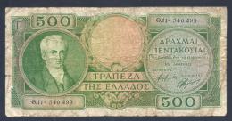 GRECE 500 DRACHMES 1945 - Grèce