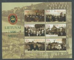 Lituanie BF N° 37 XX Millénaire De Lituanie, Le Bloc Sans Charnière, TB - Lithuania