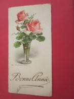 1950 CARTE POSTALE Fantaisie Type Mignonnette En CHROMO Roses JOUR DE L´AN---BONNE--ANNée HAPPY NEW YEAR - Nieuwjaar