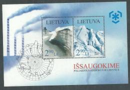 Lituanie BF N° 39 XX Protection Des Zones Polaires Et Des Glaciers, Le Bloc Sans Charnière, TB - Lithuania