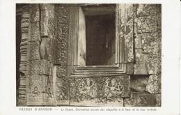 ANGKOR-LE BAYON-DECORATION MURALE DES CHAPELLES A LA BASE DE LA TOUR CENTRALE - Cambodge