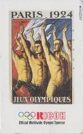 Télécarte Japon Poster JEUX OLYMPIQUES PARIS 1924 - OLYMPIC GAMES FRANCE - Japan Sport Phonecard - 180 - Jeux Olympiques