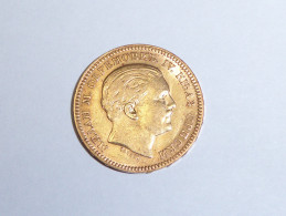 ROYAUME DE SERBIE Milan IV Obrenovitch. 20 Dinara Or. 1879 A ParisPAYPAL ET RECOMMANDE GRATUIT - Servië